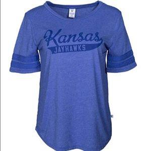 Venley Kansas Jayhawks Stripe Sleeve Jersey NWT L